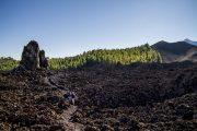Hiking in the volcanic landscape around Garachico, Tenerife