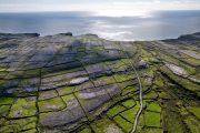 Aerial view of Inishmore, largest of the Aran Islands