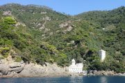 San Fruttuoso Abbey on the Ligurian coast, only reachable on foot or by boat