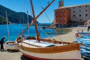 Boat on the beach at Sestri Levante