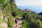 hiking trail descending to Corniglia, Cinque Terre
