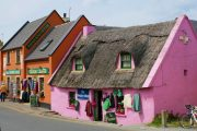 The colourful houses of Doolin village