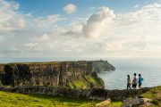 Walking the cliff path along the Cliffs of Moher