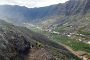 Hiking in the Barranco de Monteforte, Hermigua