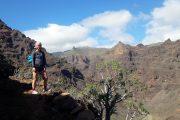 Hiking in the Barranco del Cabrito, La Gomera