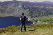 View over Lough Tay, the 'Guinness Lake'