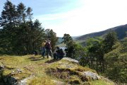 Taking a break above Lough Tay on the Wicklow Way