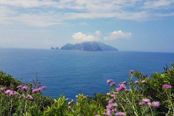 Udsigt til Capri fra Punta Campanella