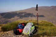 Backpacks and walking poles in the Alpujarras