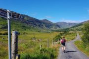 Following the Kerry Way on a quiet country road in the Black Valley