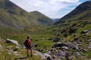 View into the Bridia Valley on the Kerry Way