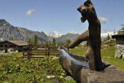 Alpine fountain in the Aosta Valley
