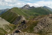 High alpine peaks above Aosta