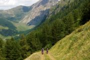 Hikers in the Aosta Valley