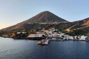Salina island in the Aeolian group, Sicily