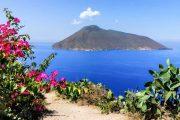 View of Salina island from Lipari