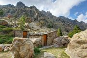 Shepherd's huts in the Restonica Gorge