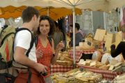 cheese stall, Provence market
