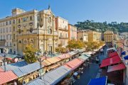 The Cours Saleya market in Nice