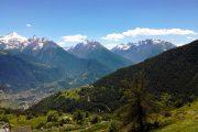 Alpine peaks in the Valle d'Aosta