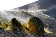 Volcanic crater on Vulcano island