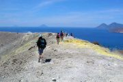 Hiking on Vulcano island, Sicliy