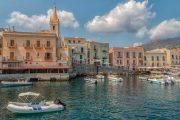 Lipari harbour, Sicily