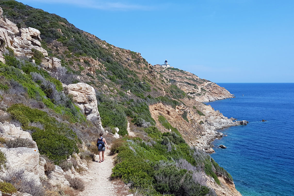 Hiking to the Revellata lighthouse in Calvi, Corsica