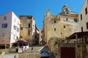 The ancient streets inside Calvi citadel
