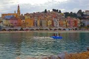 The pretty seaside town of Menton on the Cote d'Azur