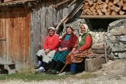 Local villagers in Bulgaria's Rhodope mountains