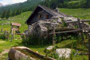 Alpine farm on the Dachstein mountain