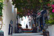 Hiking through the village of Langada in Amorgos