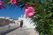 Hiking on Santorini