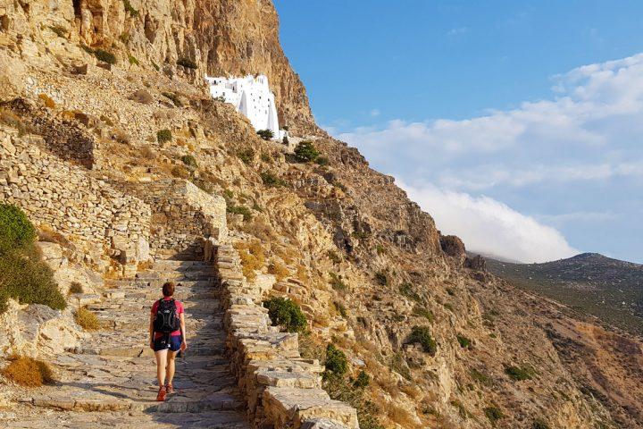 Hiking at Panagia Hozoviotissa Monastery, Amorgos