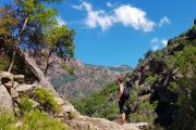 Hiking in the Spelunca Gorge in Corsica