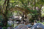 Ponte Zaglia in the Spelunca Gorge in Corsica