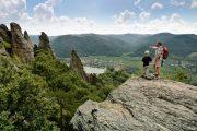 Wachau walking holiday - hiking above Duernstein