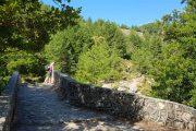 Crossing a stone bridge in the Niolu Valley, near Calacuccia