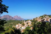 The picturesque mountain village of Evisa in Corsica