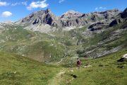 Hiker in Valle Maira
