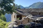 Old farmhouse in the Maira Valley