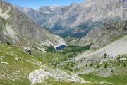 View over Lago Visaisa from the Sentiero Frassati