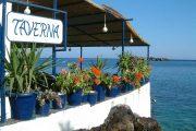 Seaside taverna in Loutro, Crete