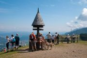 Hiking in Slovenia at the three country border