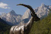 Mountain goat statue at Lake Jasna, Kranjska Gora
