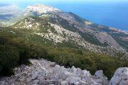 Coastal view from the Supramonte mountains, Sardinia