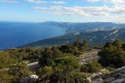 View along Sardinia's east coast