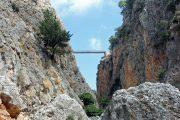 Footbridge in the Aradena Gorge, Crete
