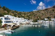 The small fishing village of Loutro on the south coast of Crete